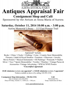 2014AntiquesAppraisalFairFlier